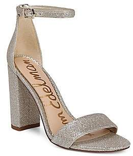 Sam Edelman Women's Yaro Ankle-Strap Metallic Sandals