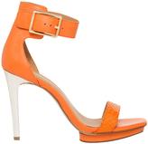 Calvin Klein Vable Tangerine Cow Silk Sandal