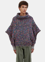 Men's Oversized Hand-knitted Sweater In Multicolour €700