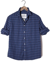 Frank And Eileen Mens Paul Italian Flannel Check Shirt With Red Dots