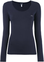 Armani Jeans embellished logo jumper - women - Cotton/Spandex/Elastane - 38