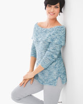 Chico's Sequin Shine Dorothy Pullover
