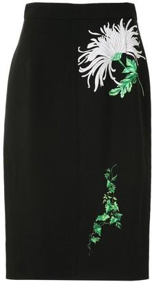 No.21 Floral Print Pencil Dress