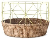 Threshold Wire/Woven Geo Basket - Yellow