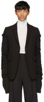 Rick Owens Black Canvas Weakling Blazer