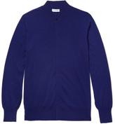 Richard James Wool Zip-up Cardigan - Royal blue