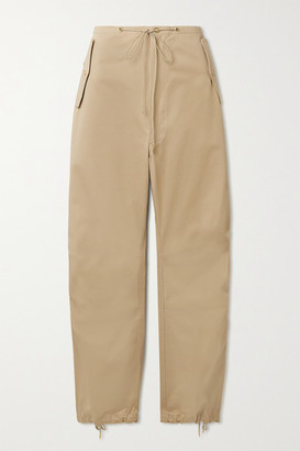 Dion Lee Cotton-twill Tapered Pants - Beige