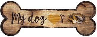 Missouri Tigers Dog Bone Wall Sign