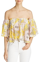 Yumi Kim Floral Print Off The Shoulder Top