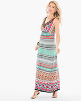 Chico's Multi-Print Embellished Maxi Dress