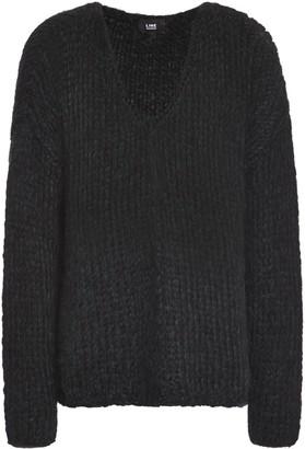 Line Open-knit Wool-blend Sweater