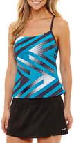 Nike Geometric Tankini Swimsuit Top