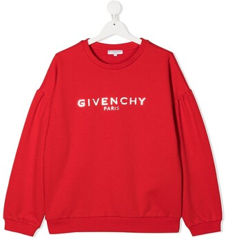 Givenchy Kids TEEN logo-print crew neck sweatshirt