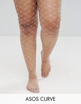 Asos Oversized Fishnet Tights In White