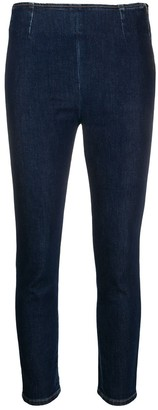 L'Autre Chose Cropped Zip-Up Skinny Jeans
