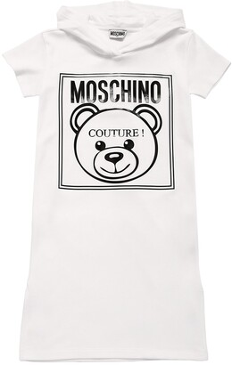 Moschino HOODED COTTON PIQUET DRESS
