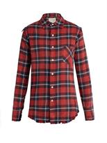 R 13 Long-sleeved tartan cotton shirt