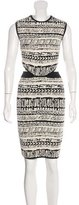 Ronny Kobo Jacquard Cutout Dress