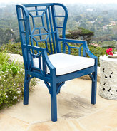 Horchow Tamsin Blue Chinoiserie Outdoor Wing Chair