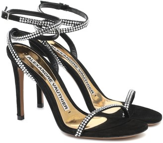 Alexandre Vauthier Carine crystal-embellished suede sandals