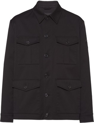 Prada Boxy-Fit Flap Pocket Jacket