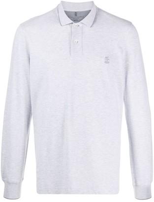 Brunello Cucinelli Embroidered-Logo Polo Shirt