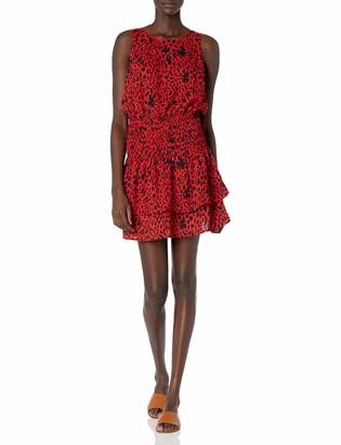 Sugar Lips Sugarlips Women's Fierce Feline Leopard Print Smocked Mini Dress