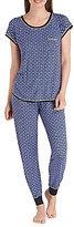 Kensie Elephant-Print Jersey Pajamas