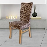 Sure Fit Statement Prints Leopard Dining Chair Cover