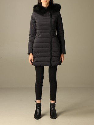 Peuterey Jacket Seriola Down Jacket With Hood And Fur Edges