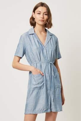 French Connenction Laiche Stripe Shirt Dress