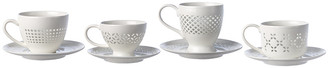 Pols Potten Pierced Cups and Saucers - Set of 4