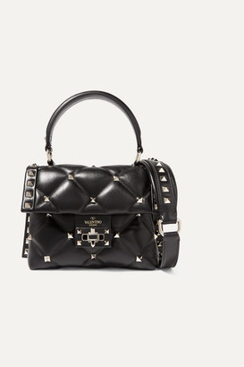 Valentino Garavani Candystud Mini Quilted Leather Shoulder Bag - Black