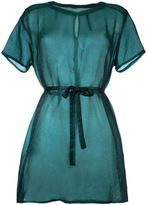 Mini Market Minimarket - semi sheer tie up shirt dress - women - Silk/Polyester - 36