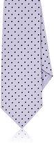 Barneys New York Men's Polka Dot Silk Necktie-Light Purple