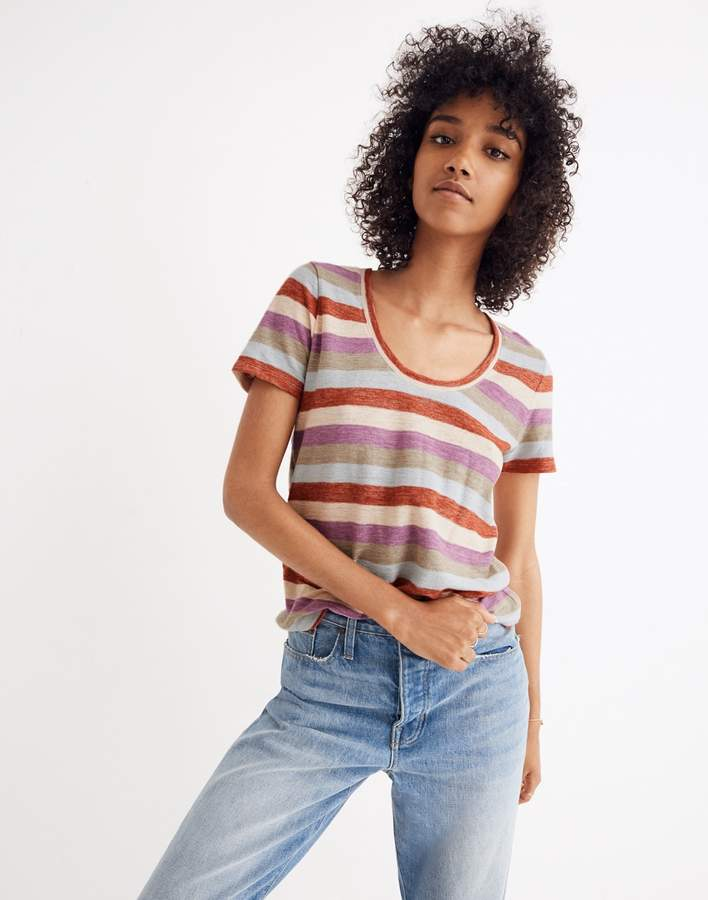 Alto Scoop Tee in Granda Stripe