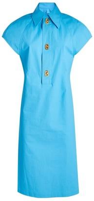 Bottega Veneta Coated Cotton Mini Dress