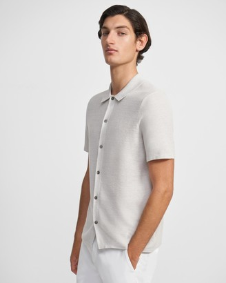 Theory Short-Sleeve Shirt in Linen Mix