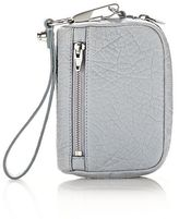 Alexander Wang Large Fumo Wallet In Pebbled Powder With Rhodium