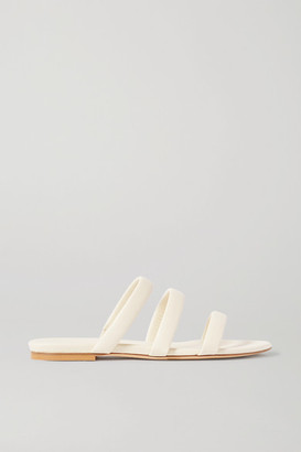AEYDĒ Chrissy Leather Slides - Off-white