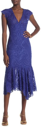 Reiss Anastasia Lace Midi Dress