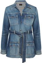Saint Laurent Belted Denim Jacket - Mid denim