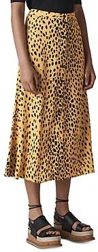 Whistles Cheetah Print Midi Skirt
