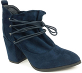Navy Lace-Up Hope Bootie