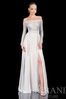 Terani Evening - Daring Off-shoulder with Elegant A-line Skirt 1611M0631