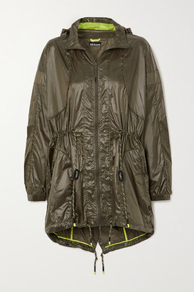 All Access Radio Windbreaker Hooded Shell Jacket - Army green