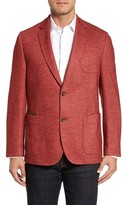Men's Flynt Classic Fit Suede Trim Jersey Sport Coat