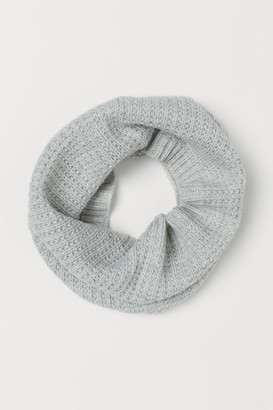 H&M Glittery Tube Scarf - Gray