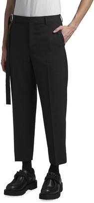 Valentino Men's Cropped Trousers w/ Long Self Belt