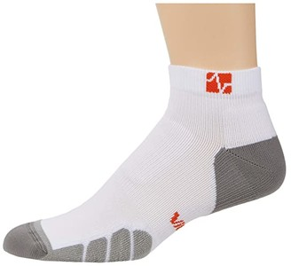 Eurosock Vitalsox By Eurosock Court Sport Low Cut (White/Silver) Low Cut Socks Shoes
